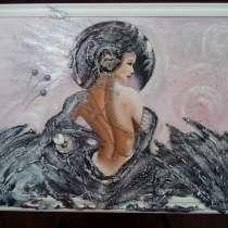 Интерьерная картина Царевна-лебедь (живопись акрил), в Москве