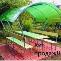 Беседки с лавочками и столиком, в Тейково