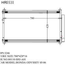 Продам радиатор кондиционера на HONDA ODYSSEY 2005-2010, в Владивостоке