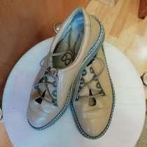 Туфли женские 36 р. натуральная кожа без каблука, в Иркутске