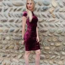 Платье офисное велюр стрейч, в Троицке