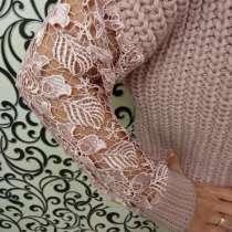 Красивый свитер с ажурными рукавами, в г.Украинка