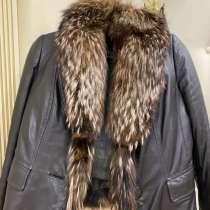 Кожаная зимняя куртка, в Котельниках