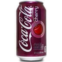 Газировка Coca-Cola Cherry(Кока-Кола Черри) в жестяной банке, в Владивостоке