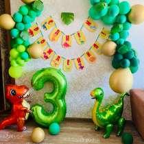 День рождения в стиле динозавры, цифра 3, в Новосибирске