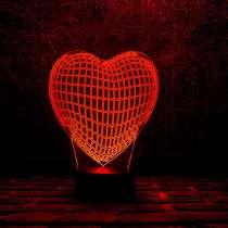 3D светильник сердце, в Москве