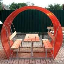 Новые садовые беседки со столиком и лавкой, в Песковатке