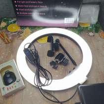 Кольцевая лампа 26см яркая новая + пульт в подарок, в Санкт-Петербурге