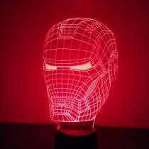 """Светодиодный 3Д ночник """"Маска железного человека"""", в Череповце"""