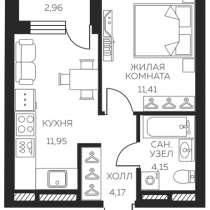 Отличная 1 кв., в новом доме ЖК Светлый (сдача дома 2020г.), в Екатеринбурге
