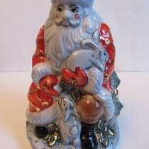 Дед Мороз, Гжель, цветная, авторская работа, в Москве