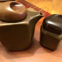 Чайник и сахарница-каменная керамика. Винтаж, в Москве