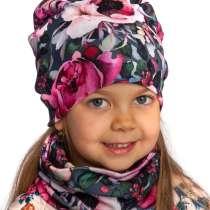 Детские трикотажные шапочки и банданы для весны 2020, в Иванове