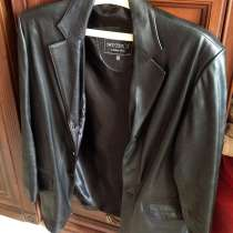Пиджак кожаный мужской Турция, в Уфе