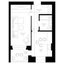 1-к квартира, 41 м2, 3/3 эт, в Калуге
