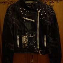 Женская джинсовая куртка в байкерском стиле, в Москве
