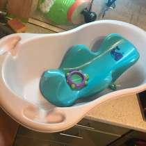 Комплект детская ванночка, горка для купания и термометр, в Красногорске