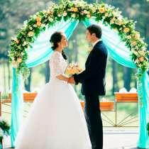Свадебная арка из живых цветов (конструкция в прокат), в Иркутске