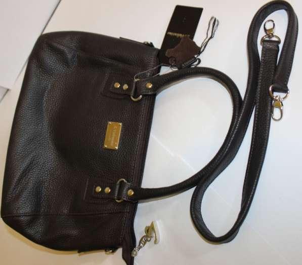 Кожаная сумка коричневая в Москве фото 3