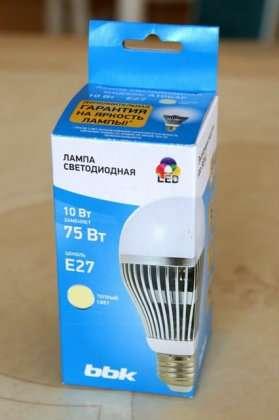 Светодиодная лампа BBK со скидкой BBK 3-10Вт.