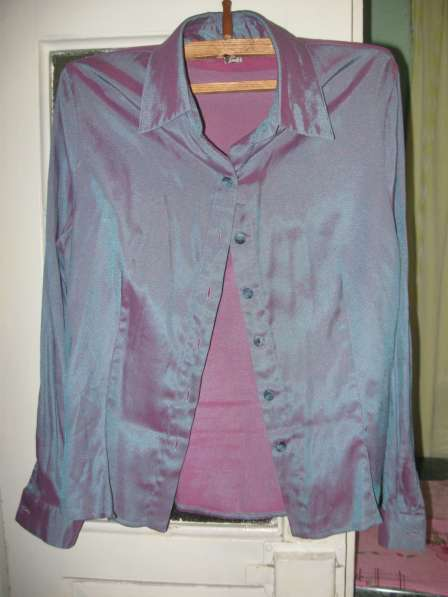 Блузка сиреневая 52 размер