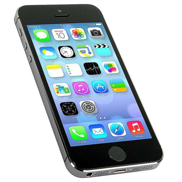 Айфон 5 S, 1сим, 4 дюйма, корпус метал (copy). дешево