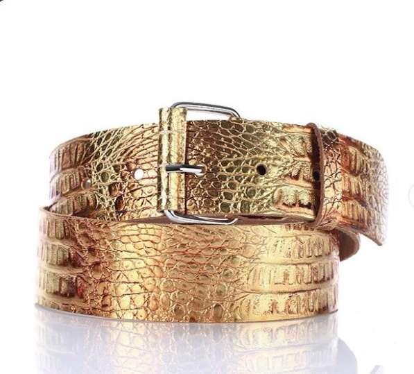 Ремень натуральная кожа Золотой