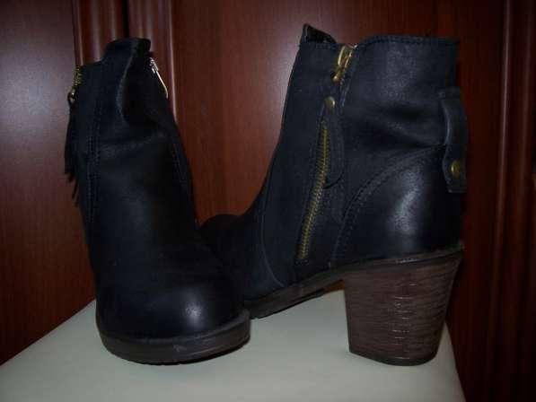 Ботинки зимние, черные. Размер 37.