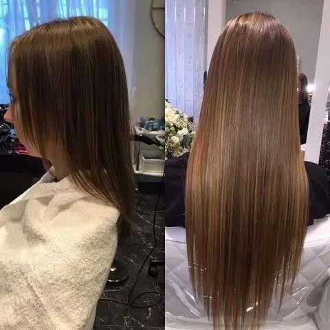 Наращивание волос, причёски