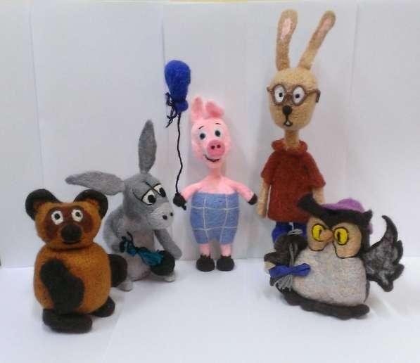 Игрушки ручной работы-Винни-пух и его компания