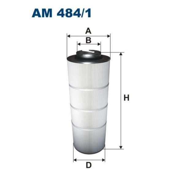 Воздушный фильтр для порошковой покраски АМ 484/1