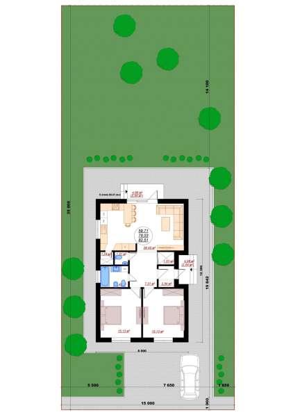 Дом 82м2 в п. Северном. Асфальт, Школа, Транспорт