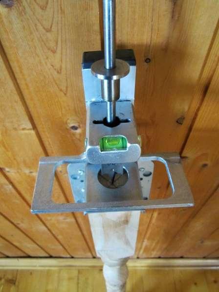 Кондуктор для сверления отверстий в тетиве, под установку ба