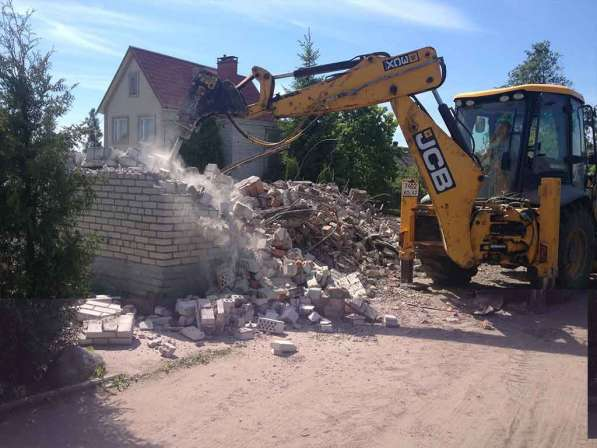 Слом (демонтаж, снос) домов, зданий и сооружений