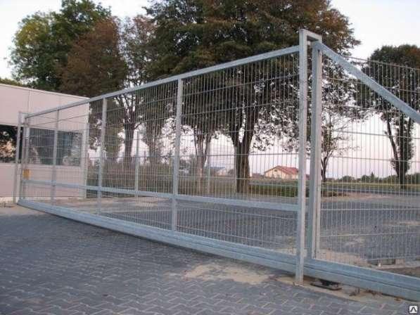 Ворота откатные из сварной сеткиПорошк. окр./Цинк 2030х4000х4 мм.