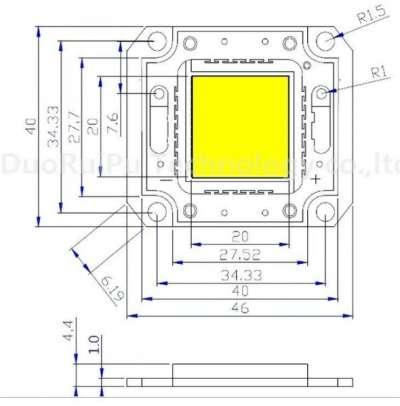 Светодиодная матрица 50Вт. Тайвань Genesis 35mil