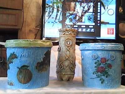 Де купаж.вазы для цветов,горшки для раст