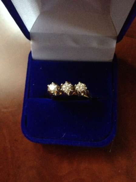 Советское кольцо с бриллиантами
