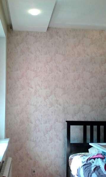 Поклейка обоев от 100 р. Ремонт квартир. Натяжные потолки