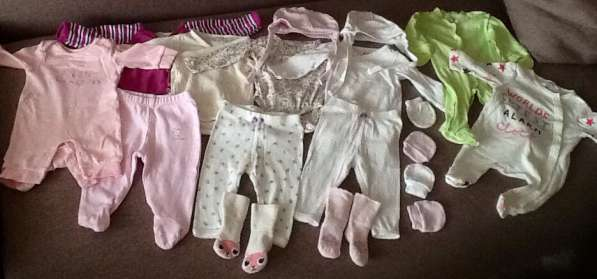 Пакет одежды для девочки р. 56-62
