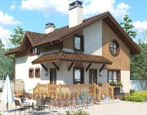 Строительство дома из газобетона 7.8x8.4 97.3 кв. м