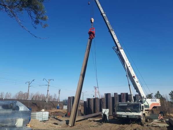 Крепление котлованов траншей шпунтом методом вибропогружения в Екатеринбурге фото 12