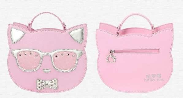 Детский чемодан на колесах с сумкой Кошка розовый в Мытищи фото 3