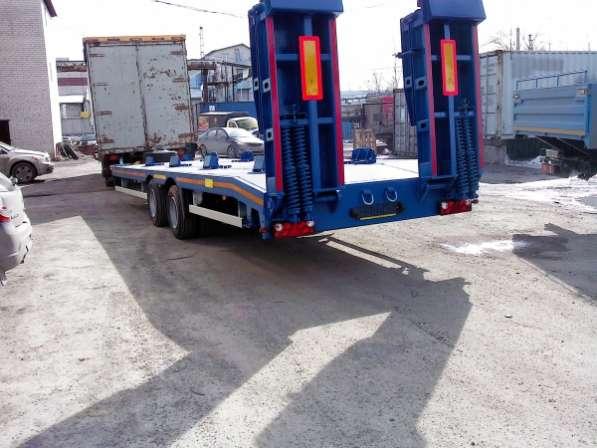 Автоприцеп прицеп тандем низкорамный тент с трапами 8, 10, 15, 16,18 тн для перевозки установок ГНБ, строительной техники, ДГУ установок и тд