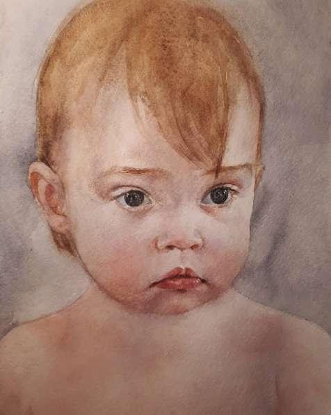 Акварельный портрет