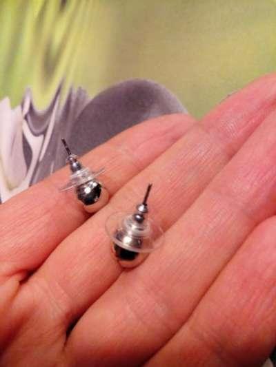 Пусеты-гвоздики сребристые