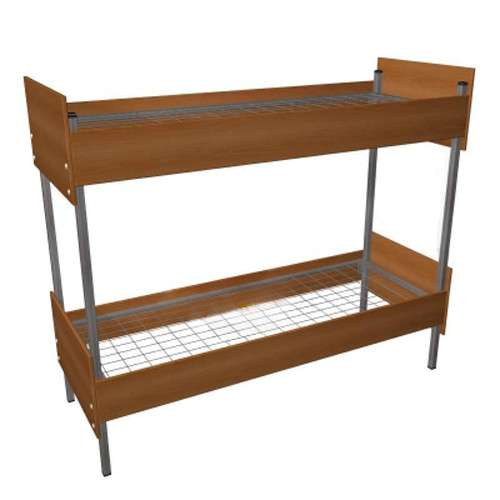 Кровати металлические с деревянными спинками