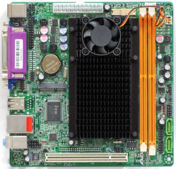 Мат. плата с процом мини-ITX ITZR D525BL2-2C