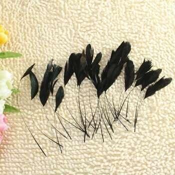 Перья черные, длиные, декоративные