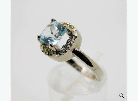Золотое кольцо с принцессой Топаза и бриллиантами. в Москве фото 5